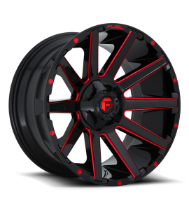 20x9 Fuel Off-Road Wheels | 1 piece D643 CONTRA 5x114.3/5x127 GLOSS BLACK RED TINTED CLEAR 1 Offset (5.04 Backspace) 78.1 Centerbore | D64320902650