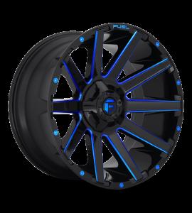 20x9 Fuel Off-Road Wheels | 1 piece D644 CONTRA 5x114.3/5x127 GLOSS BLACK BLUE TINTED CLEAR 1 Offset (5.04 Backspace) 78.1 Centerbore | D64420902650