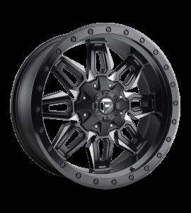 20x9 Fuel Off-Road Wheels | 1 piece D591 NEUTRON 8x170 MATTE BLACK MILLED 1 Offset (5.04 Backspace) 125.1 Centerbore | D59120901750