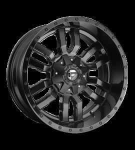 17x9 Fuel Off-Road Wheels | 1 piece D596 SLEDGE 6x135/6x139.7 MATTE BLACK GLOSS BLACK LIP -12 Offset (4.53 Backspace) 106.1 Centerbore | D59617909845